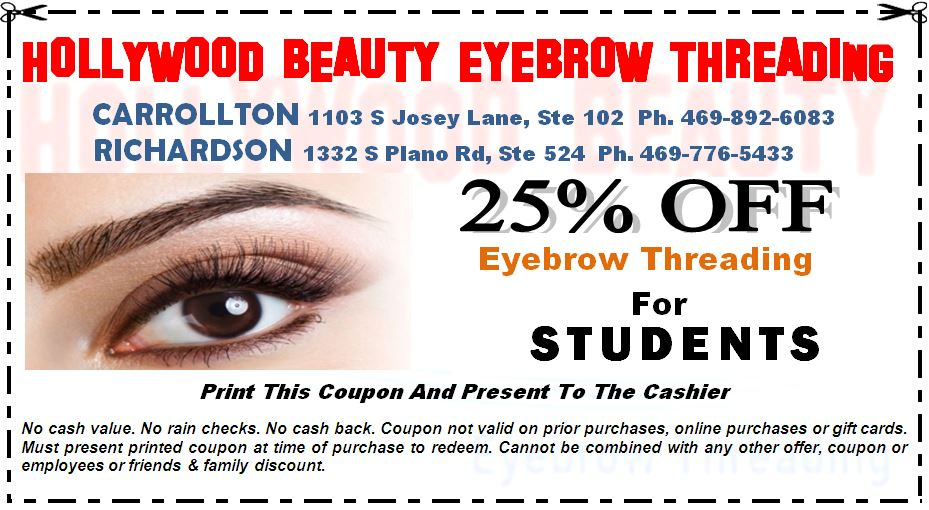 Hollywood Beauty Coupon Carrollton TX